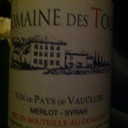 Domaine des Tours Vin de Pays de Vaucluse Red Rhone Blend 2013