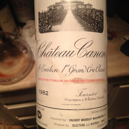 Château Canon Saint-Émilion Red Bordeaux Blend 1982