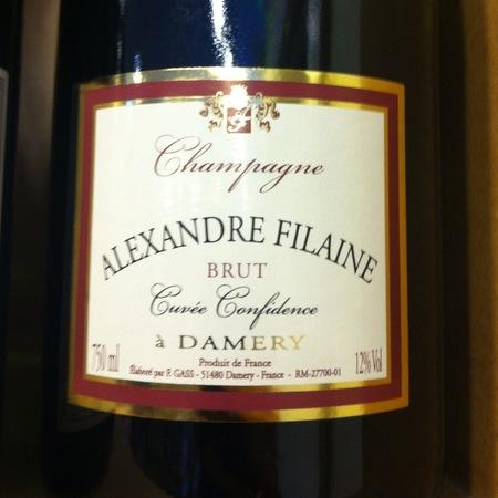 Alexandre Filaine Cuvée Confidence Brut Champagne NV