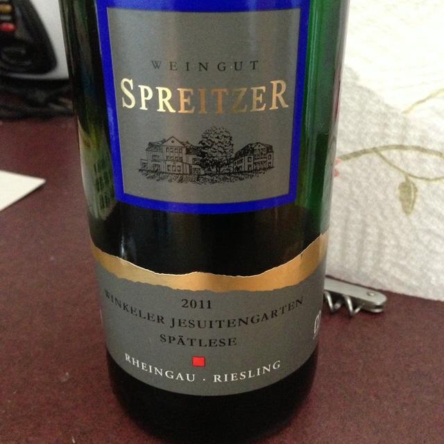 Weingut Spreitzer Winkeler Jesuitengarten Spätlese Riesling 2003