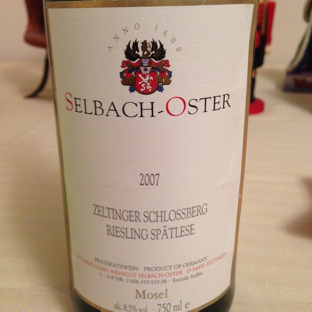 Zeltinger Schlossberg Spätlese Riesling 2007