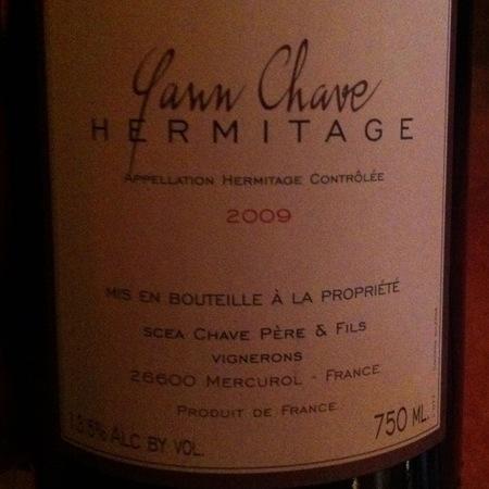 Yann Chave Hermitage Syrah 1989