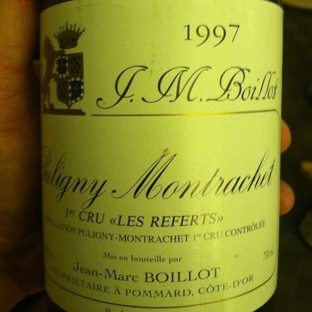 Domaine Jean-Marc Boillot Les Referts Puligny-Montrachet 1er Cru Chardonnay 2012