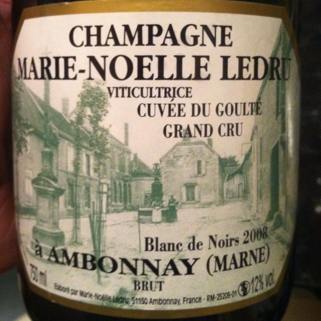 Cuvée du Goulté Grand Cru Blanc de Noirs Champagne 2010