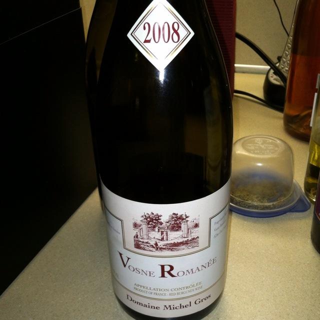 Vosne Romanée Pinot Noir 2008