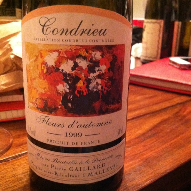 Pierre Gaillard Fleurs d'automne Condrieu Viognier 1999 (500ml)