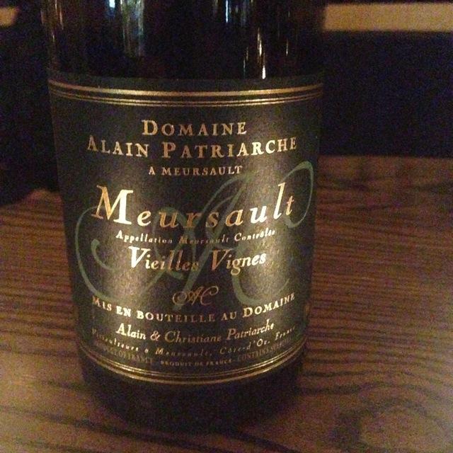 Vieilles Vignes Meursault Chardonnay 2007