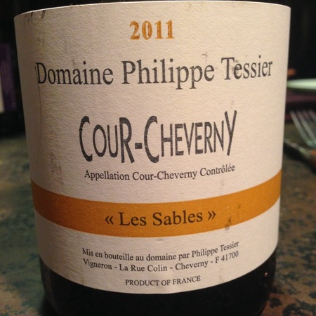 Domaine Philippe Tessier Les Sables Cour-Cheverny Romorantin 2015