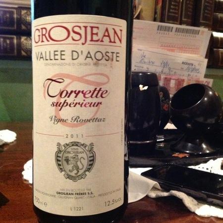 Grosjean Frères Vigne Rovettaz Torrette Supérieur Petit Rouge 2012