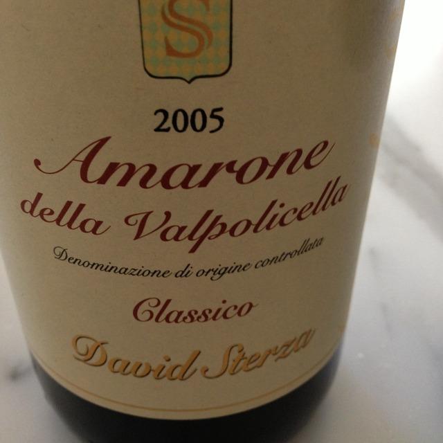 David Sterza Amarone della Valpolicella Classico 2011