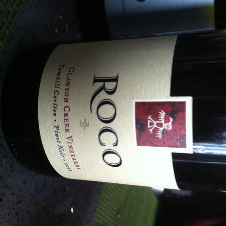 Roco Clawson Creek Vineyards Pinot Noir 2011