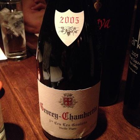 Domaine Fourrier Les Goulots Vieille Vigne Gevrey-Chambertin 1er Cru Pinot Noir 2005