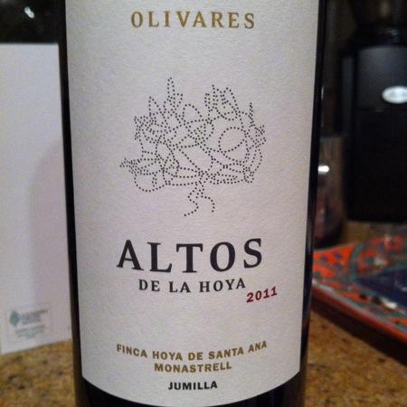 Bodegas Olivares Altos de la Hoya Finca Hoya de Santa Ana Jumilla Monastrell 2015