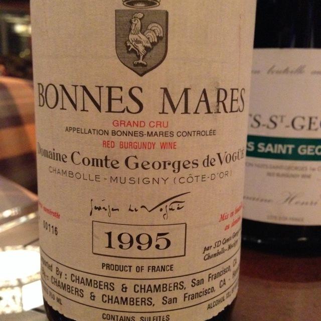 Domaine Comte Georges de Vogüé Bonnes Mares Grand Cru Pinot Noir 1995