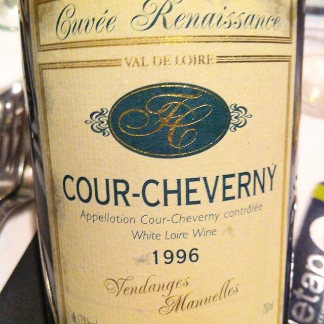 Cuvée Renaissance Vendanges Manuelles Cour-Cheverny Romorantin  2014