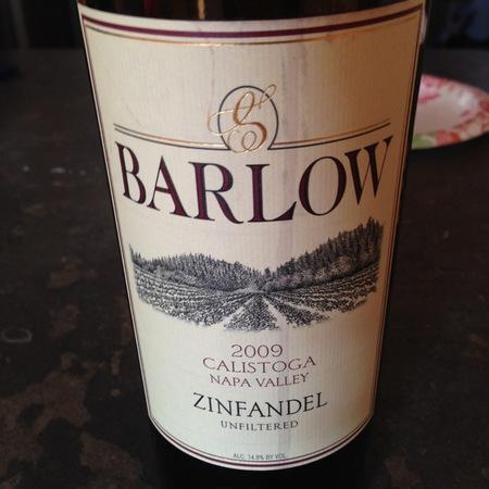 Barlow Vineyards Calistoga Zinfandel 2014