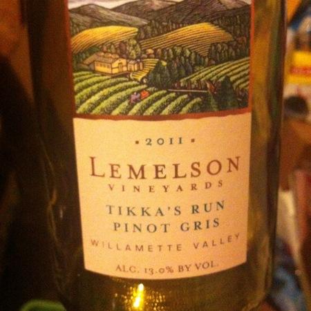 Lemelson Vineyards Tikka's Run Pinot Gris 2015