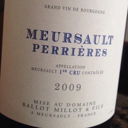 Domaine Ballot-Millot & Fils Les Perrières Meursault 1er Cru Chardonnay 2013