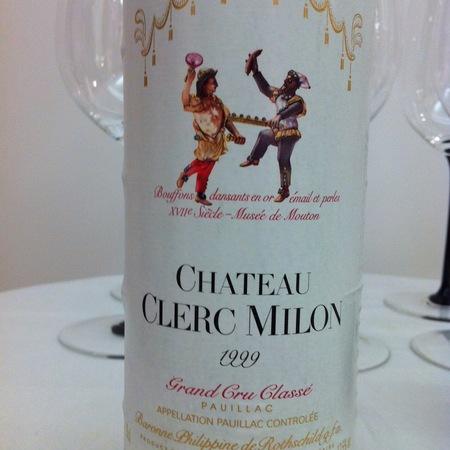 Château Clerc Milon Pauillac Red Bordeaux Blend 1999