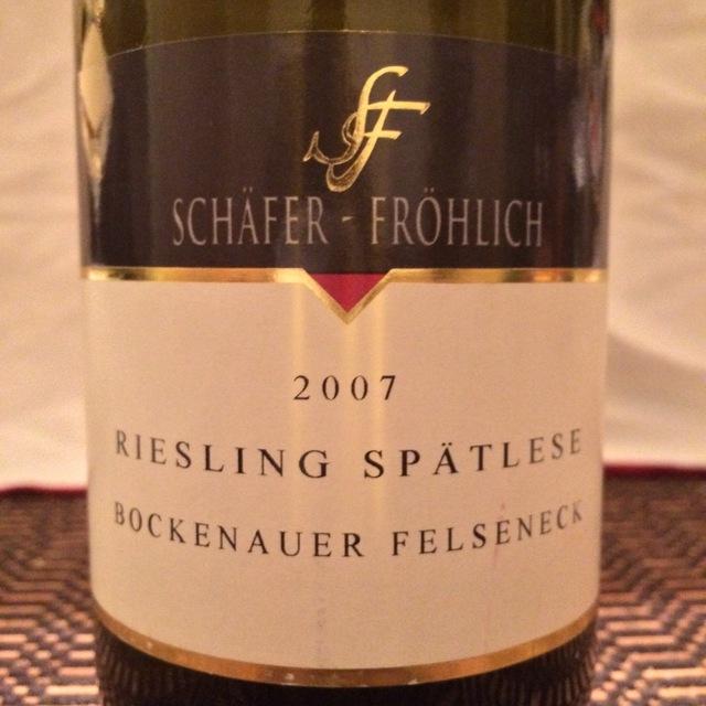 Bockenauer Felseneck Spätlese Riesling 2013