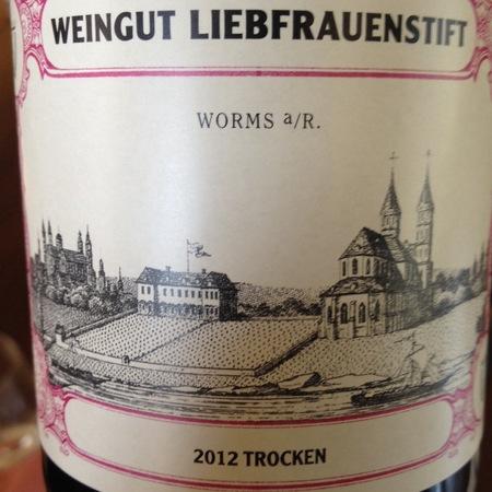 Weingut Liebfrauenstift Rheinhessen Trocken Riesling  2013