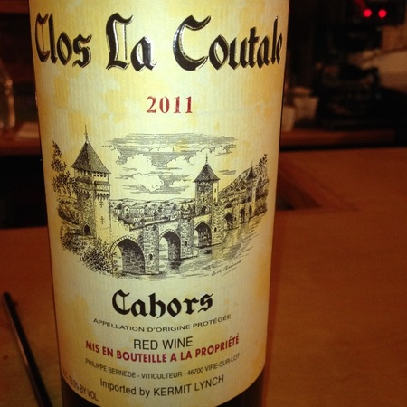 Clos La Coutale Cahors Malbec Merlot 2014