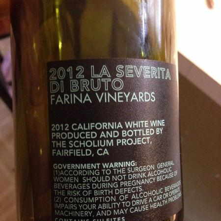 Scholium Project La Severità di Bruto Farina Vineyards Sauvignon Blanc 2012