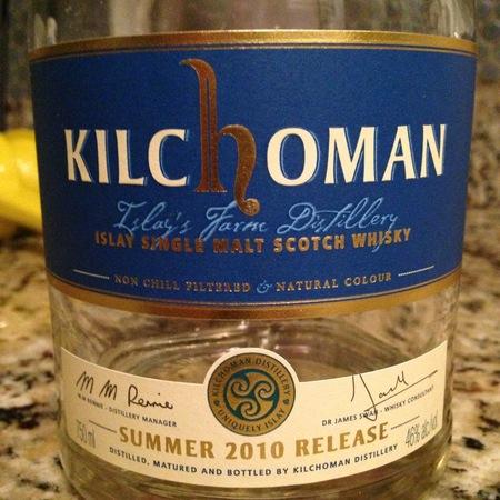 Kilchoman Distillery Islay Single Malt Scotch Whisky 2010