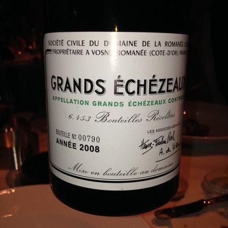 Domaine de la Romanée-Conti (DRC) Grands Échézeaux Pinot Noir 2008