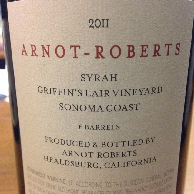 Griffin's Lair Vineyard Syrah 2011