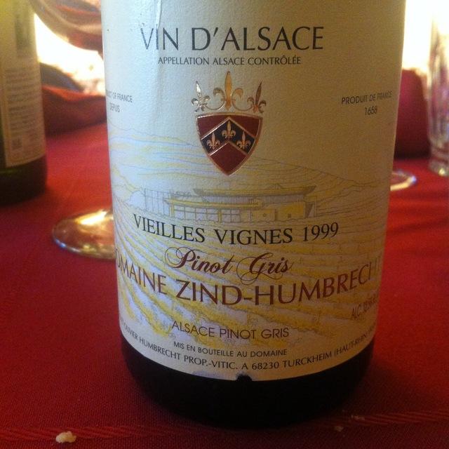 Domaine Zind Humbrecht Vieilles Vignes Alsace Pinot Gris 1990