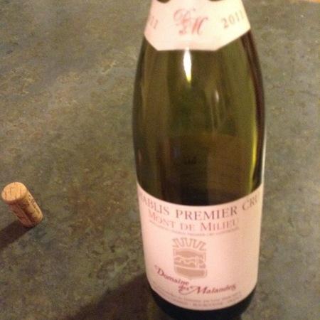 Domaine des Malandes Mont de Milieu Chablis 1er Cru Chardonnay 2015