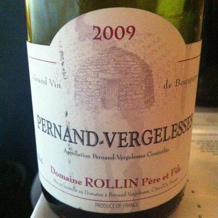 Domaine Rollin Père et Fils Pernand-Vergelesses Pinot Noir 2009
