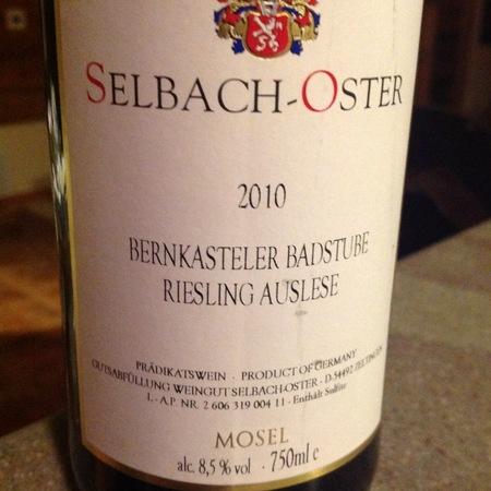 Selbach-Oster Bernkasteler Badstube Auslese Riesling  2013