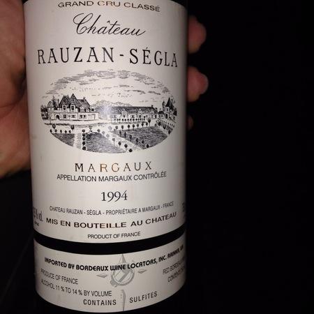 Château Rauzan-Ségla Margaux Red Bordeaux Blend 1994