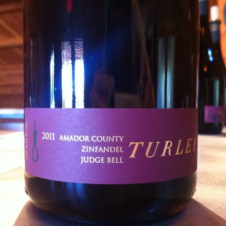 Turley Judge Bell Amador County Zinfandel 2015
