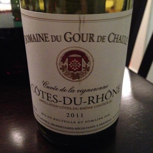 Cuvée de la Vigneronne Côtes du Rhône Red Rhone Blend 2014