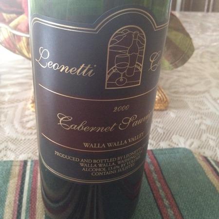 Leonetti Cellar Walla Walla Valley Cabernet Sauvignon 2000