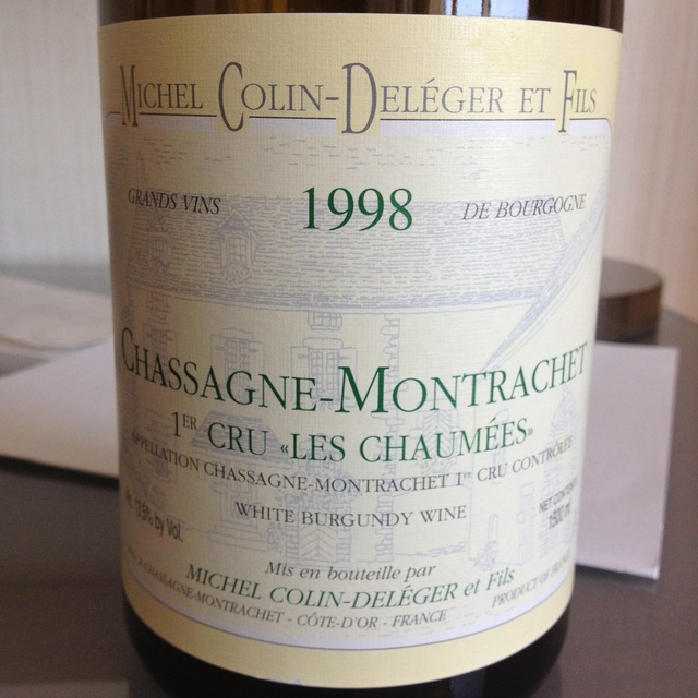 Les Chaumées Chassagne-Montrachet 1er Cru Chardonnay 1998
