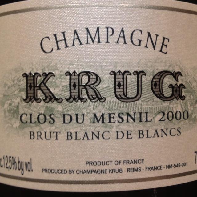 Krug Clos du Mesnil Brut Blanc de Blancs Champagne Chardonnay 1990
