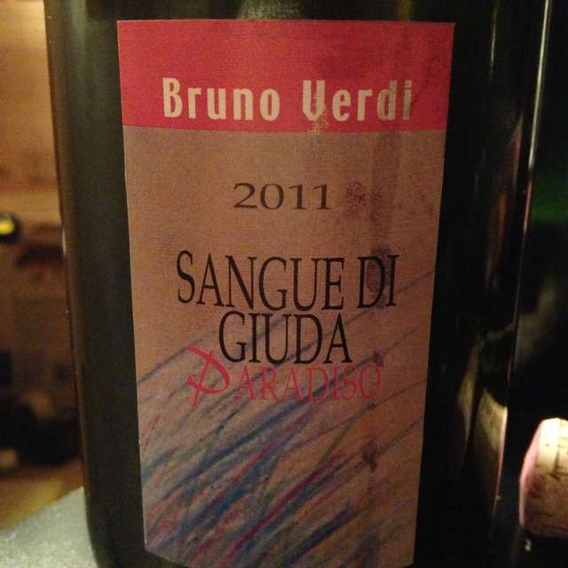 Bruno Verdi Paradiso Sangue di Giuda Barbera Bonarda 2016