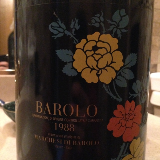 Marchesi di Barolo Barolo Nebbiolo 1988