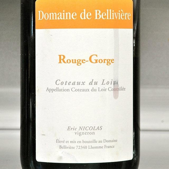 Domaine de Bellivière (Eric Nicolas) Rouge-Gorge Coteaux Du Loir Pineau d'Aunis 2015