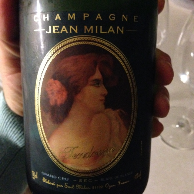 Jean Milan Tendresse Grand Cru Blanc de Blancs Sec Champagne Blend NV