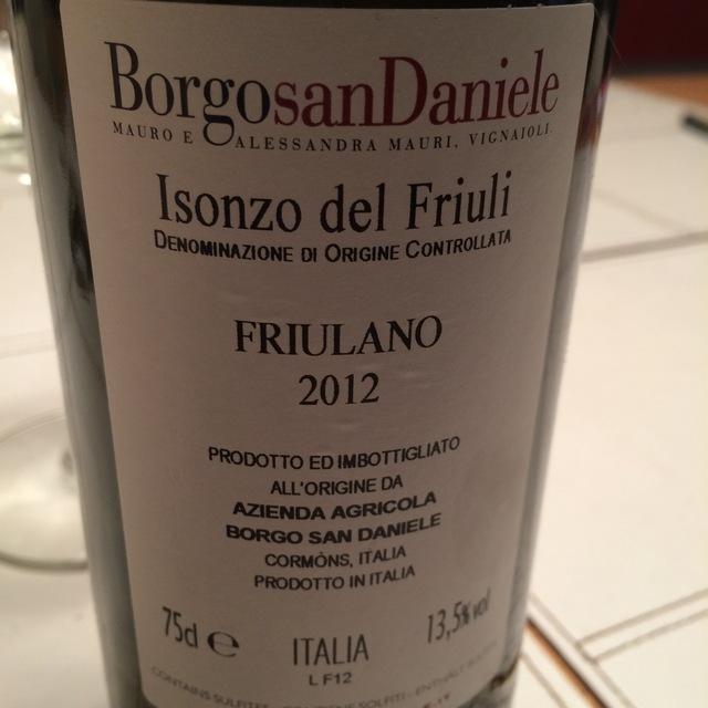 Isonzo del Friuli Friulano 2014
