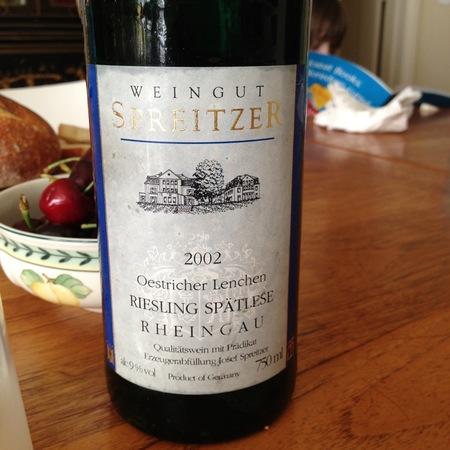 Weingut Spreitzer Oestricher Lenchen Spätlese  Riesling 2004