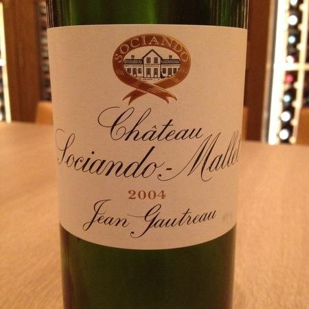 Château Sociando-Mallet Haut-Médoc Red Bordeaux Blend 2004