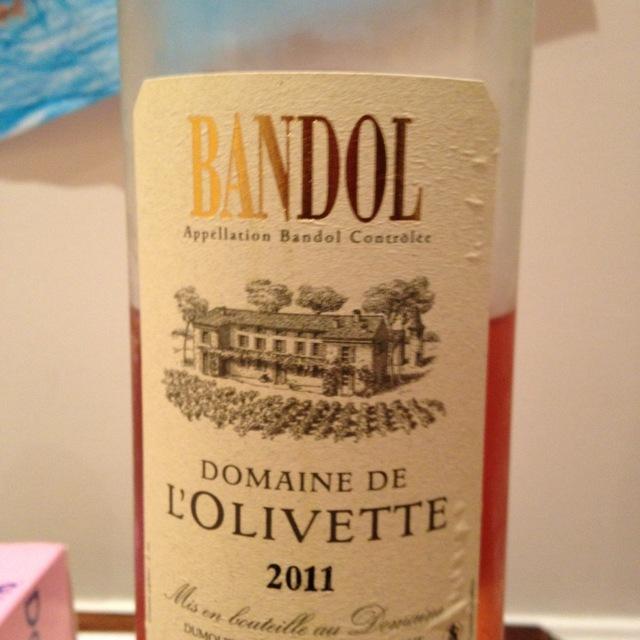 Domaine de l'Olivette Bandol Rosé  Blend 2016