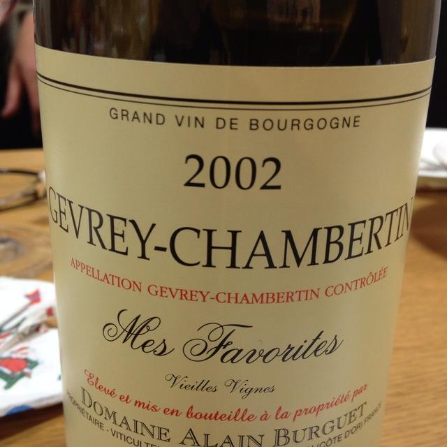 Cuvée Mes Favorites Vieilles Vignes Gevrey-Chambertin Pinot Noir 2002