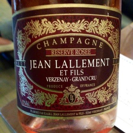 Jean Lallement Réserve Rosée Brut Grand Cru Champagne Pinot Noir NV